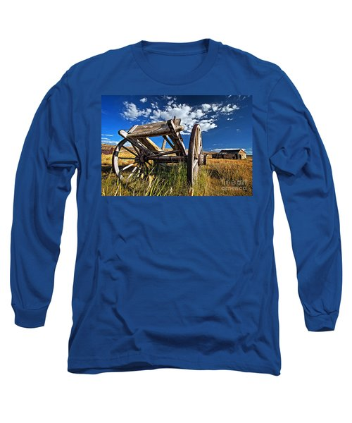 Old Abandoned Wagon, Bodie Ghost Town, California Long Sleeve T-Shirt