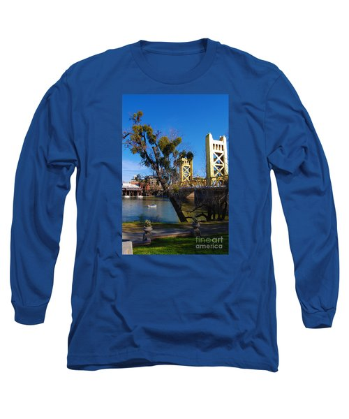 Old Sacramento Tower Bridge Long Sleeve T-Shirt