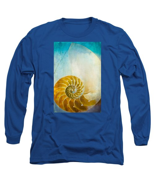 Old World Treasures - Nautilus Long Sleeve T-Shirt by Colleen Kammerer