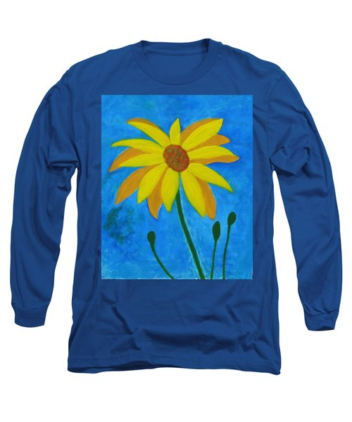 Old Yellow  Long Sleeve T-Shirt by John Scates