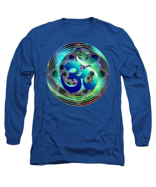 Long Sleeve T-Shirt featuring the digital art Om Vibration Ocean by Robert G Kernodle