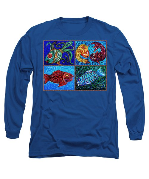 One Fish Two Fish Long Sleeve T-Shirt by Sarah Loft