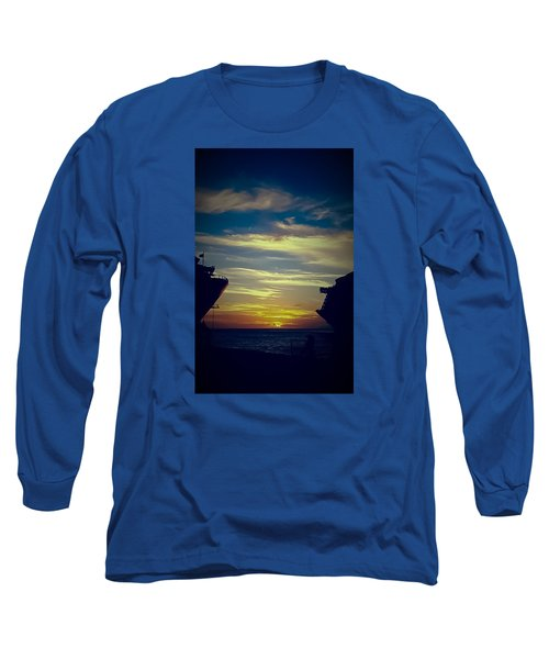 Long Sleeve T-Shirt featuring the photograph One Last Glimpse by DigiArt Diaries by Vicky B Fuller