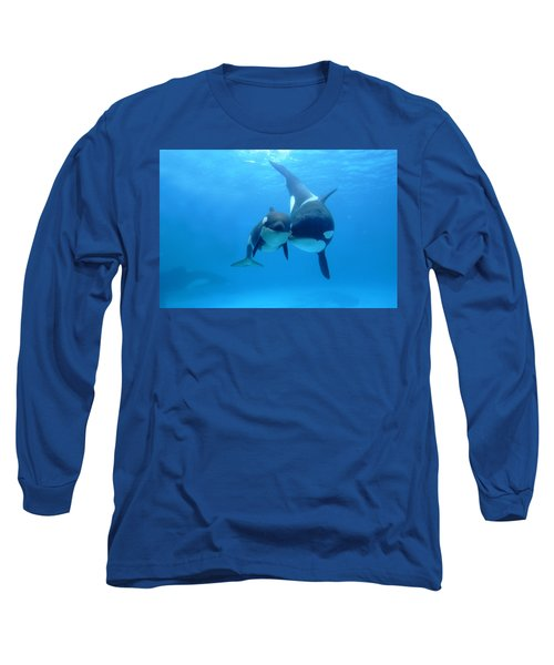 Orca Orcinus Orca Mother And Newborn Long Sleeve T-Shirt