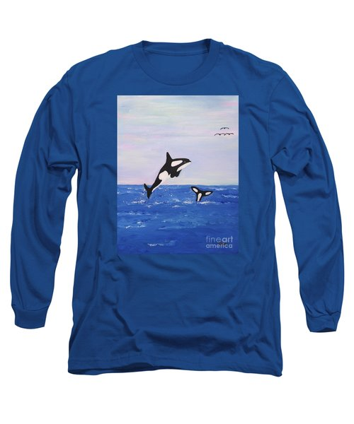 Orcas In The Morning Long Sleeve T-Shirt