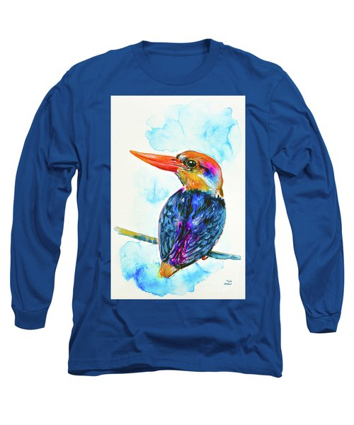 Oriental Dwarf Kingfisher Long Sleeve T-Shirt