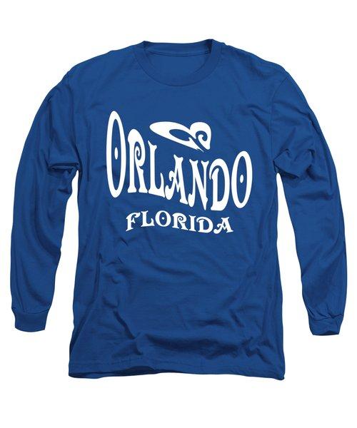 Orlando Florida Tshirt Design Long Sleeve T-Shirt by Art America Gallery Peter Potter