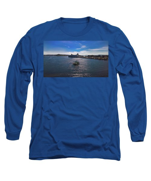 Oslo Fjord From The Roof Of The National Opera House Long Sleeve T-Shirt