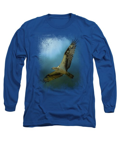 Osprey In The Evening Light Long Sleeve T-Shirt by Jai Johnson