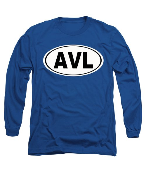 Long Sleeve T-Shirt featuring the photograph Oval Avl Asheville North Carolina Home Pride by Keith Webber Jr