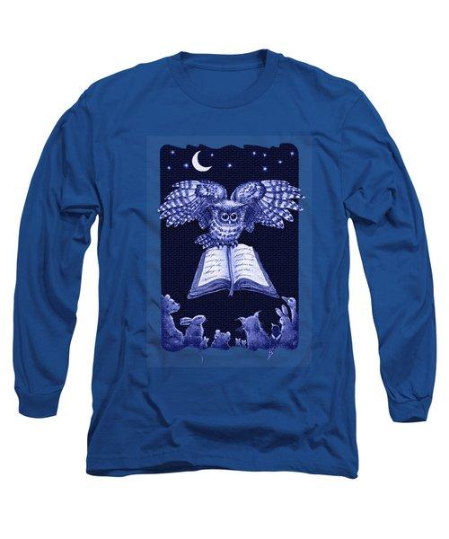 Owl And Friends Indigo Blue Long Sleeve T-Shirt