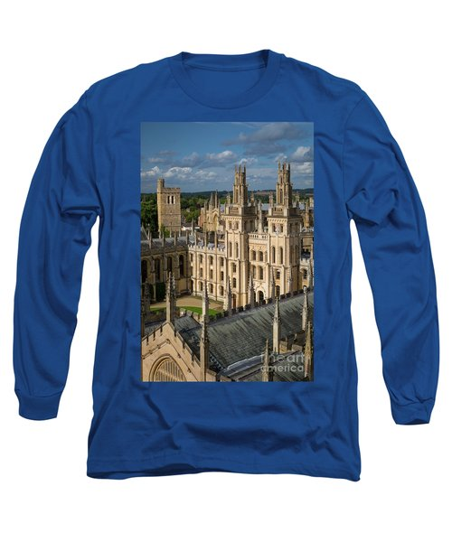 Long Sleeve T-Shirt featuring the photograph Oxford Spires by Brian Jannsen