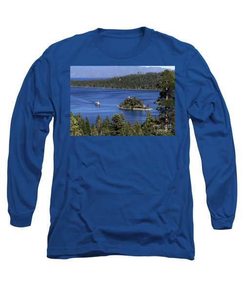 Paddle Boat Emerald Bay Lake Tahoe California Long Sleeve T-Shirt
