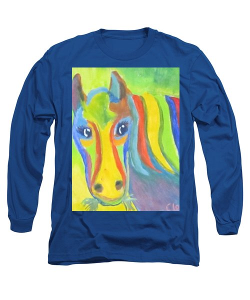 Long Sleeve T-Shirt featuring the painting Painted Pony by Cathy Long