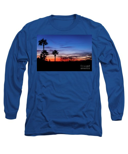 Palm Shadows II Long Sleeve T-Shirt by Deborah Klubertanz