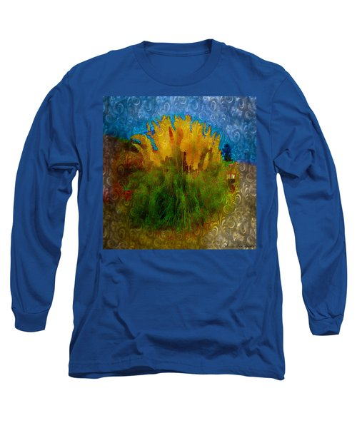 Pampas Grass Long Sleeve T-Shirt by Iowan Stone-Flowers