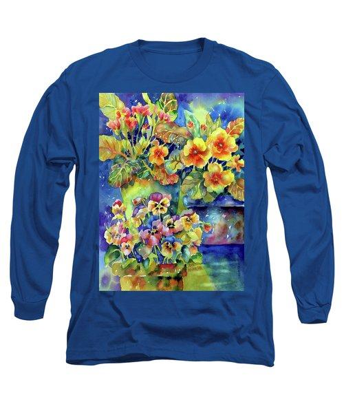 Pansies And Primroses Long Sleeve T-Shirt