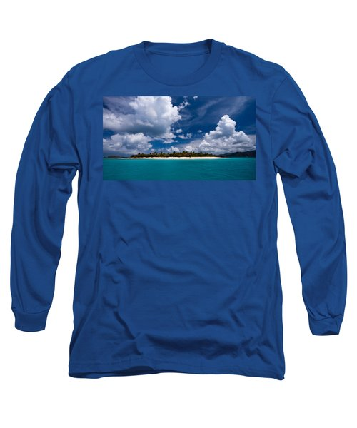 Paradise Is Sandy Cay Long Sleeve T-Shirt by Adam Romanowicz