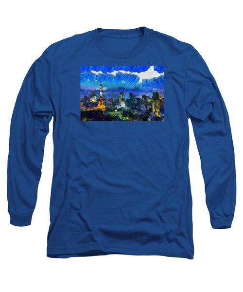 Paris Inside Tokyo Long Sleeve T-Shirt by Sir Josef - Social Critic - ART