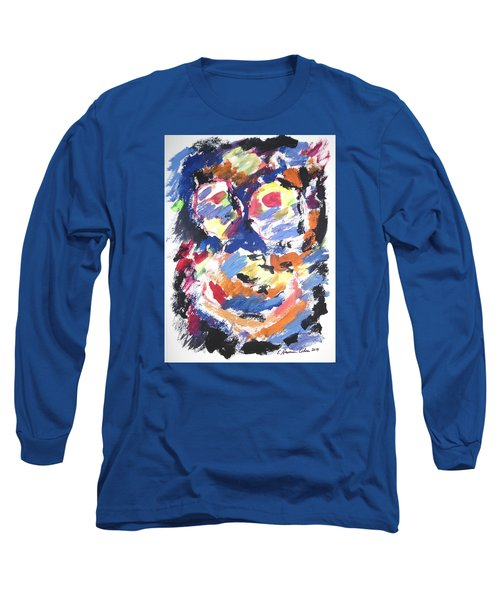 Long Sleeve T-Shirt featuring the painting Partial Blackout by Esther Newman-Cohen