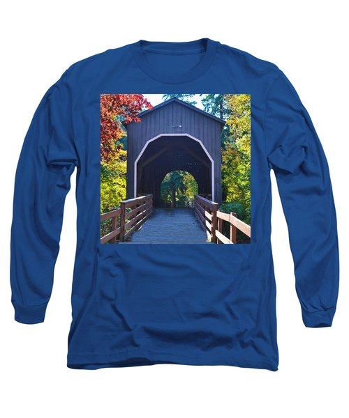 Pass Creek Covered Bridge Long Sleeve T-Shirt