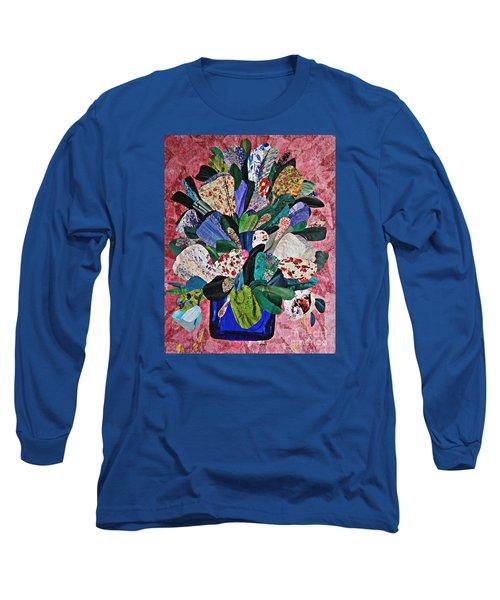 Patchwork Bouquet Long Sleeve T-Shirt by Sarah Loft