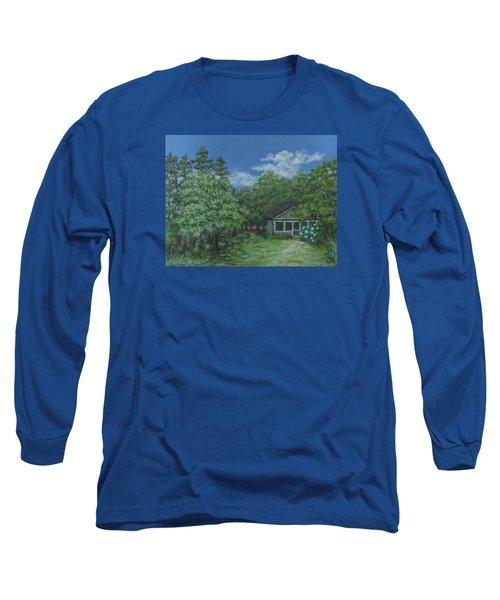 Pawleys Island Blue Long Sleeve T-Shirt by Kathleen McDermott