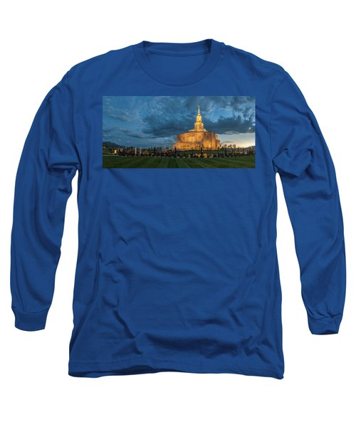 Payson Temple Panorama Long Sleeve T-Shirt