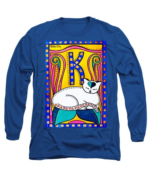 Peace And Love - Cat Art By Dora Hathazi Mendes Long Sleeve T-Shirt by Dora Hathazi Mendes