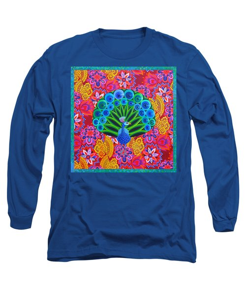 Peacock And Pattern Long Sleeve T-Shirt