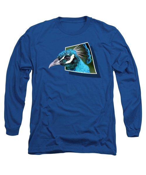 Peacock Long Sleeve T-Shirt by Shane Bechler