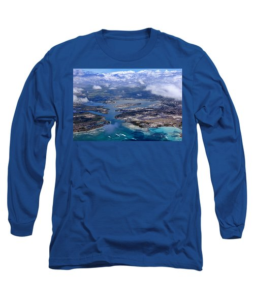 Pearl Harbor Aerial View Long Sleeve T-Shirt