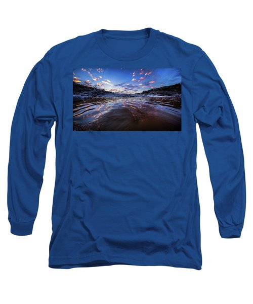 Peddernales Falls Sunset #1 Long Sleeve T-Shirt by Micah Goff