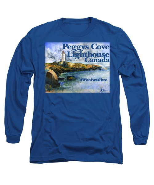 Peggys Cove Lighthouse Shirt Long Sleeve T-Shirt