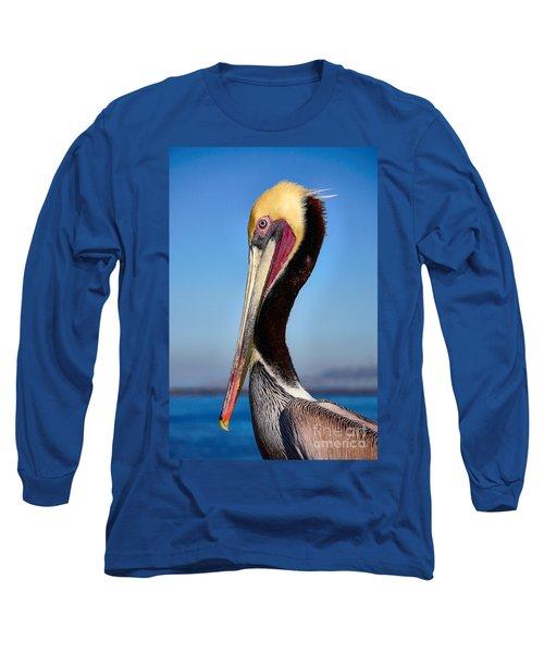 Pelican Looking Long Sleeve T-Shirt