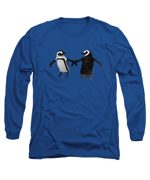 Penguin Dance Long Sleeve T-Shirt by Methune Hively