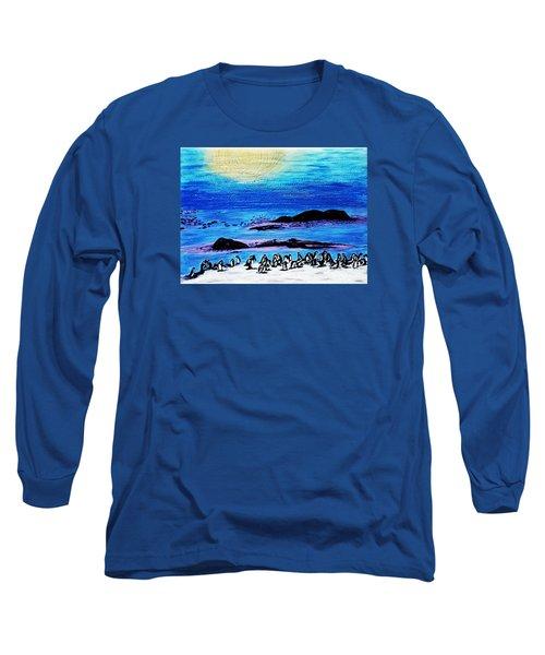 Penguins Land Long Sleeve T-Shirt