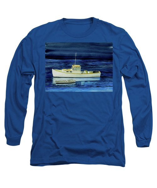 Perkins Cove Lobster Boat And Skiff Long Sleeve T-Shirt
