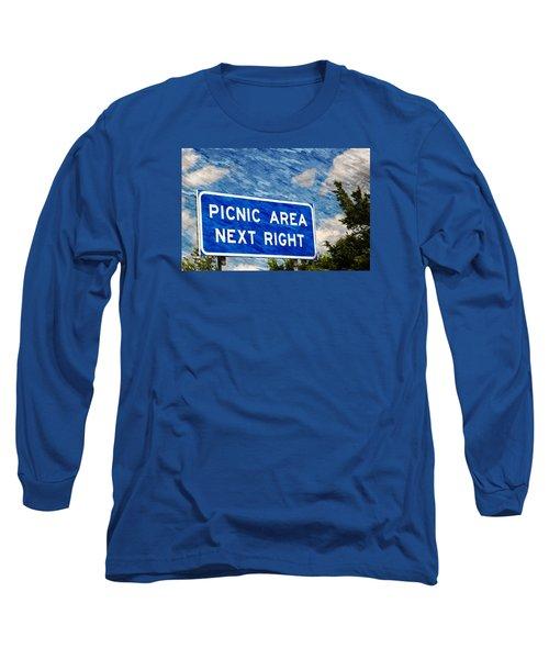 Picnic Area Long Sleeve T-Shirt by Bob Pardue