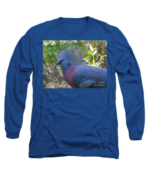 Pigeon Elegante Long Sleeve T-Shirt by Judy Kay
