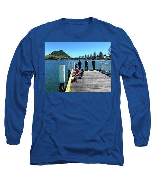 Pilot Bay Beach 7 - Mt Maunganui Tauranga New Zealand Long Sleeve T-Shirt