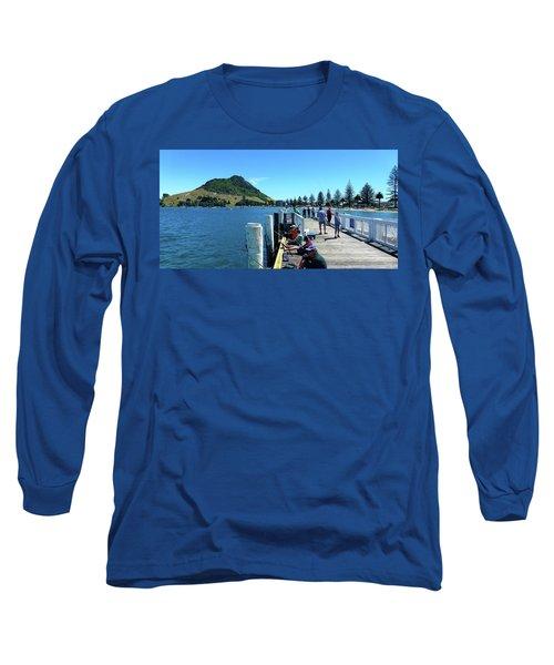 Pilot Bay Beach 8 - Mount Maunganui Tauranga New Zealand Long Sleeve T-Shirt