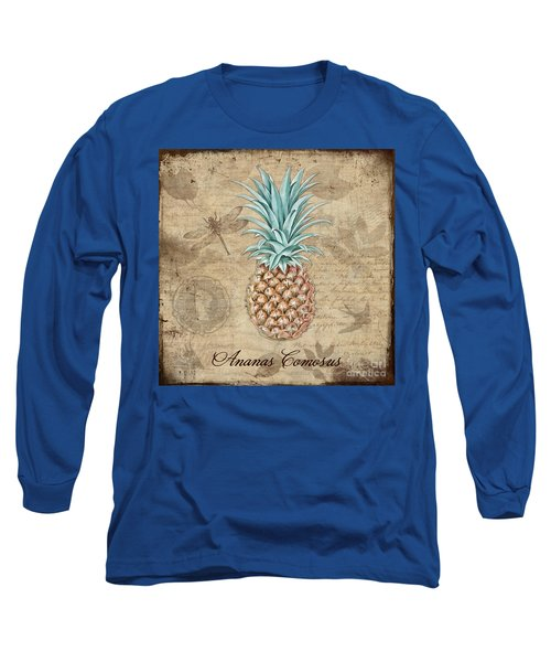 Pineapple, Ananas Comosus Vintage Botanicals Collection Long Sleeve T-Shirt
