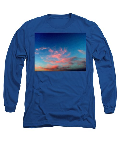 Pink Clouds Abstract Long Sleeve T-Shirt