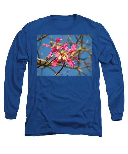 Pink Orchid Tree Long Sleeve T-Shirt by Carla Parris