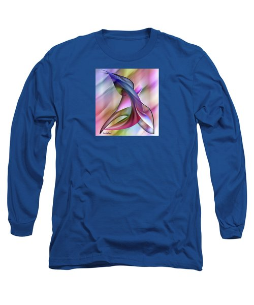 Playful Abstract  Long Sleeve T-Shirt by Iris Gelbart