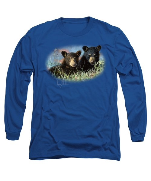 Playmates Long Sleeve T-Shirt by Lucie Bilodeau