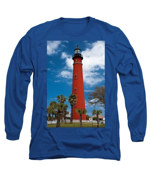 Ponce Inlet Lighthouse Long Sleeve T-Shirt by Christopher Holmes