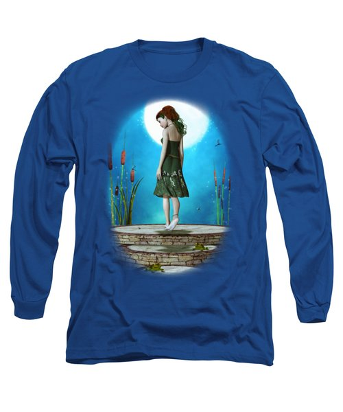 Pond Of Dreams Long Sleeve T-Shirt by Brandy Thomas