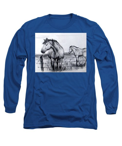 Ponder Texas Horses Long Sleeve T-Shirt
